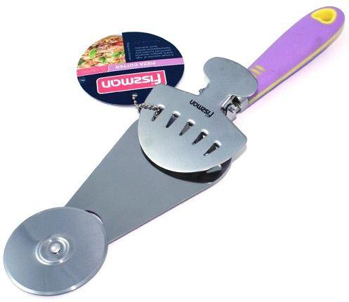 Резак для пиццы 3-в-1 (резак, щипцы, лопатка) 32 см