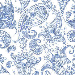 Салфетки Paperproducts Design Paisley White Indigo 20 шт 1332473