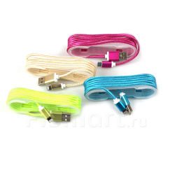 Кабель ColorNylon для iPod, iPhone, iPad Apple Lightning - USB 1м
