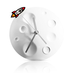 Часы Suck UK Rocket Moon SK CLOCKMOON1